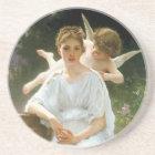 Whisperings of Love, William Adolphe Bouguereau Coaster