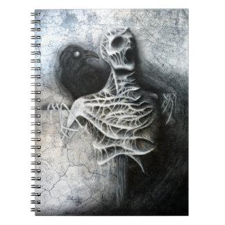Whispers of a hidden fear - macabre art notebook