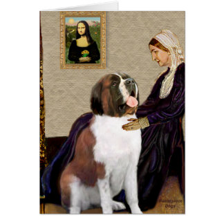 Whisterls Mother - Saint Bernard Card