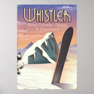 Whistler British Columbia snowboarding poster