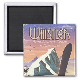 Whistler British Columbia snowboarding poster Magnet