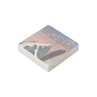 Whistler British Columbia snowboarding poster Stone Magnets