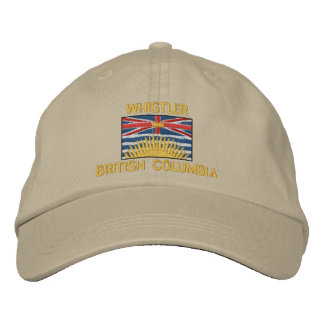 WHISTLER, BRITISH COLUMBIA with Flag Baseball Cap