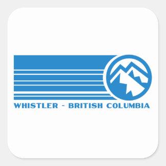 Whistler Ski Resort, British Columbia Square Sticker