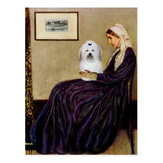 Whistlers Mother - Coton de Tulear 2 Postcard