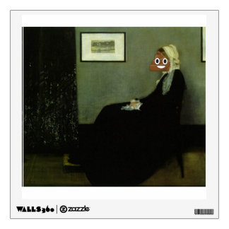 Whistler's Mother Happy Poop Wall Decal