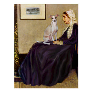 Whistlers Mother - Italian Greyhound 5 Postcard