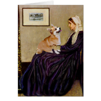 Whistlers Mother - Pembroke Welsh Corgi 7b Card