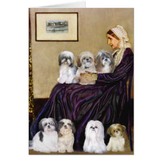 Whistlers Mother -  Shih Tzus (seven) Card