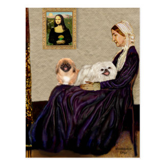 Whistlers Mother - TwoPekingese Postcard