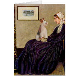 Whistlers Mother - Wire Fox Terrier #4 Card