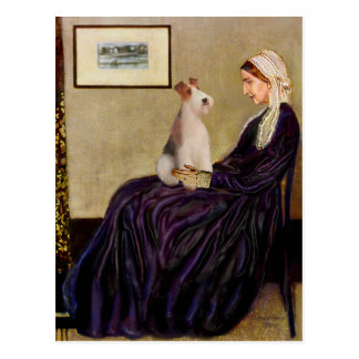 Whistlers Mother - Wire Fox Terrier #4 Postcard