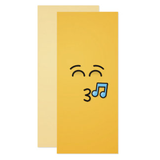 Whistling Face with Smiling Eyes Card