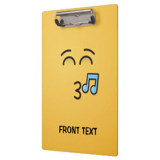 Whistling Face with Smiling Eyes Clipboard