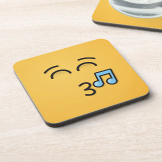 Whistling Face with Smiling Eyes Coaster