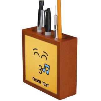Whistling Face with Smiling Eyes Desk Organizer