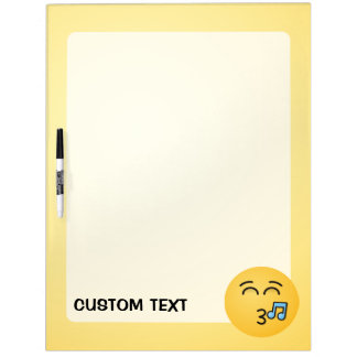 Whistling Face with Smiling Eyes Dry Erase Board