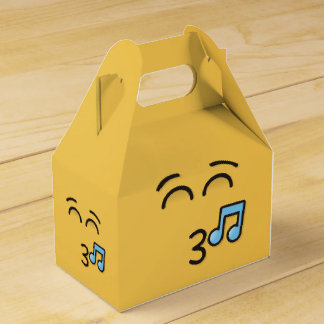 Whistling Face with Smiling Eyes Favor Box