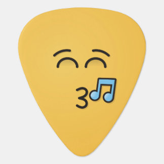 Whistling Face with Smiling Eyes Guitar Pick