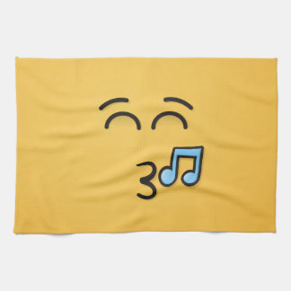 Whistling Face with Smiling Eyes Kitchen Towel