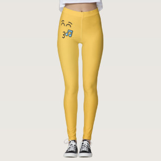Whistling Face with Smiling Eyes Leggings