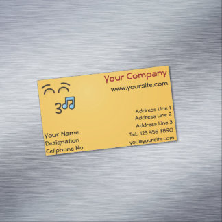 Whistling Face with Smiling Eyes Magnetic Business Card