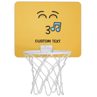 Whistling Face with Smiling Eyes Mini Basketball Hoop