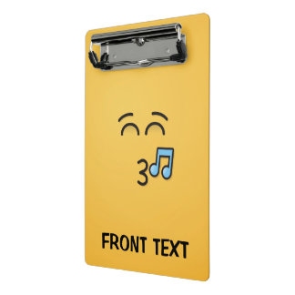 Whistling Face with Smiling Eyes Mini Clipboard