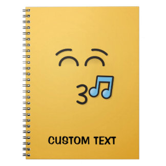 Whistling Face with Smiling Eyes Notebook