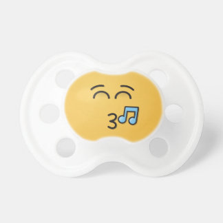 Whistling Face with Smiling Eyes Pacifier