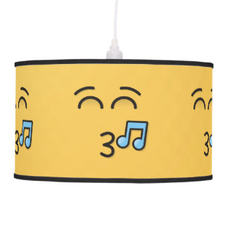 Whistling Face with Smiling Eyes Pendant Lamp