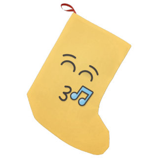 Whistling Face with Smiling Eyes Small Christmas Stocking