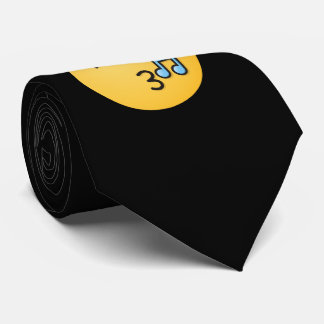 Whistling Face with Smiling Eyes Tie