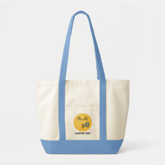 Whistling Face with Smiling Eyes Tote Bag