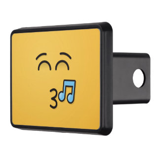 Whistling Face with Smiling Eyes Trailer Hitch Cover