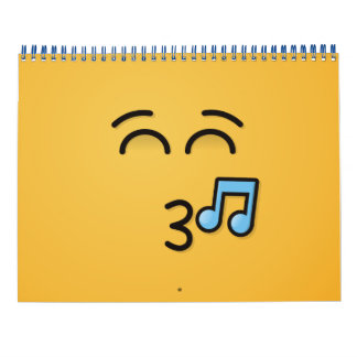 Whistling Face with Smiling Eyes Wall Calendar