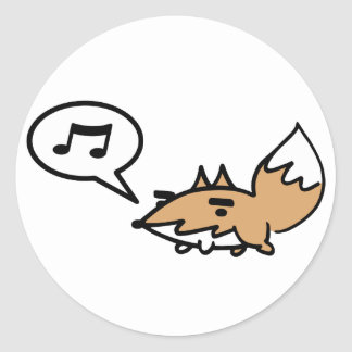 Whistling Fox Round Stickers