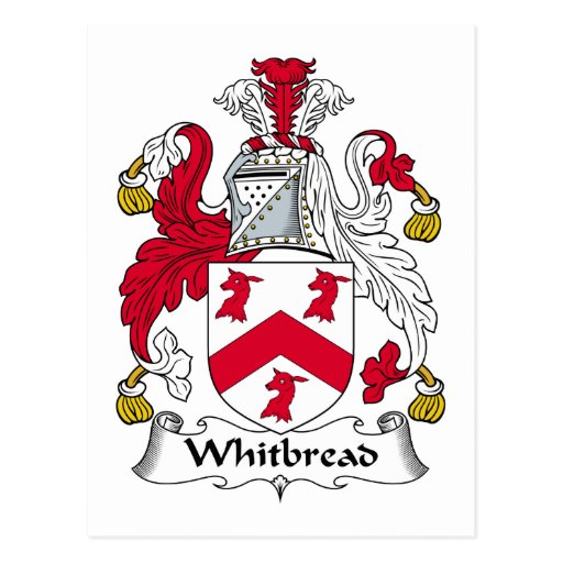 Whitbread Family Crest Post Card
