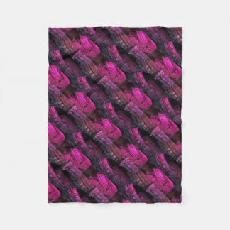 Whitby Abbey at night magenta Gothic arches goth Fleece Blanket