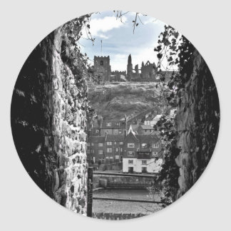 Whitby Abbey Classic Round Sticker