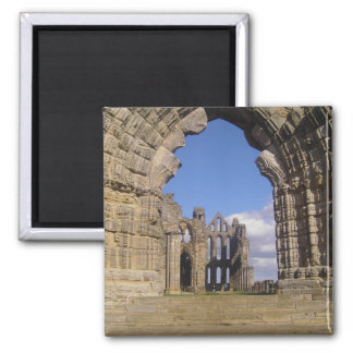 Whitby Abbey Square Magnet