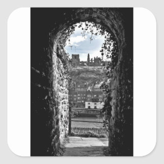Whitby Abbey Square Sticker