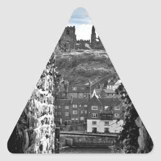 Whitby Abbey Triangle Sticker