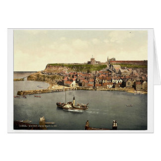 Whitby, from West Cliff, Yorkshire, England rare P Card