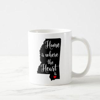 White 11 oz Classic Mug Home is where the Heart is