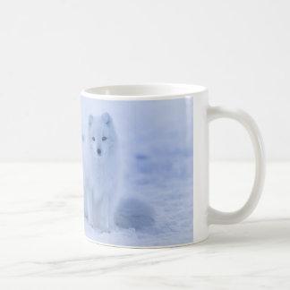 White 11 oz Classic Mug with White Wolf