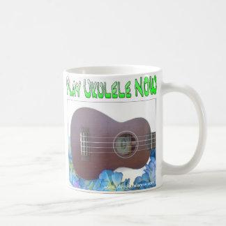 White 11 oz Classic Play ukulele NOW White Mug
