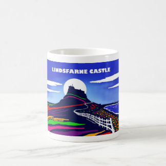 White 11oz classic mug. Lindisfarne Castle Coffee Mug