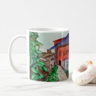 White 11oz Classic Mug w/watercolor