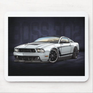 White 2012 Boss 302 Mouse Pad